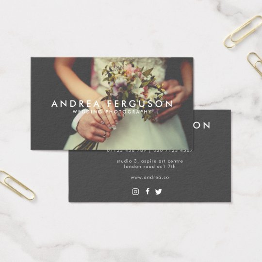 Vintage Style Photographer Overlay Business Card