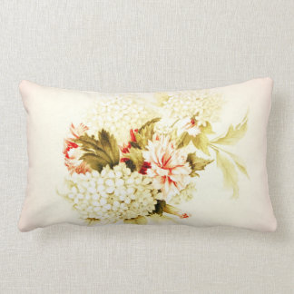 Vintage Style Pink Flowers Pillow