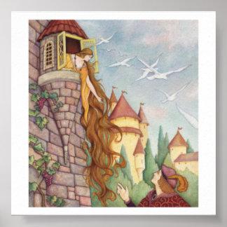 Vintage Style Rapunzel Poster