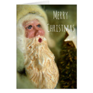 Vintage style Santa Christmas Greeting Card