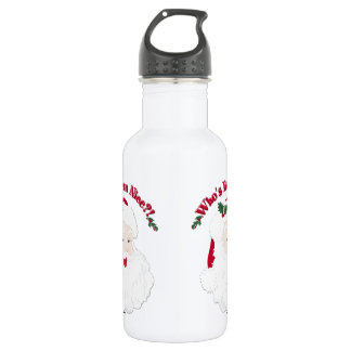 Vintage Style Santa Who's Been Nice?! 532 Ml Water Bottle