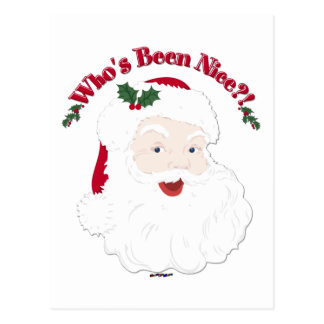 Vintage Style Santa Who's Been Nice?! Postcard