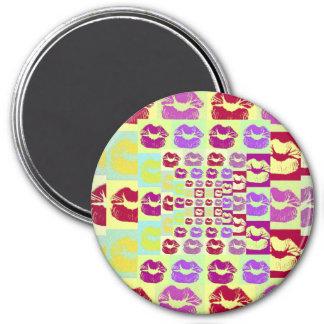 Vintage Style Sassy Lips 7.5 Cm Round Magnet