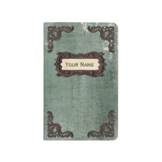 Vintage Style Scheme Log Personalized Name Journal