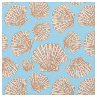 Vintage Style Seashell Pattern | Add Your Initial Fabric
