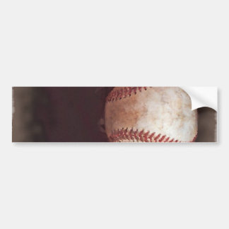 Vintage Style Sepia Baseball Artwork Bumper Sticker