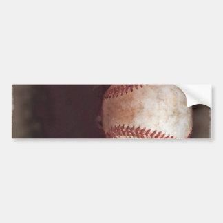 Vintage Style Sepia Baseball Artwork Bumper Stickers