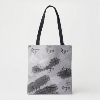 Vintage Style Skeleton Steampunk Trendy Tote Bag