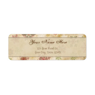 Vintage Style Snowflakes with Customisable Text Return Address Label
