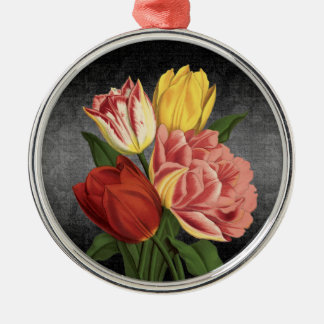 Vintage Style Spring Flowers - Ornament Round