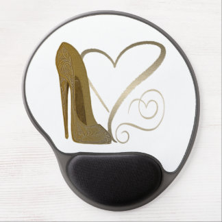 Vintage Style Stiletto and Heart Gel Mousepad