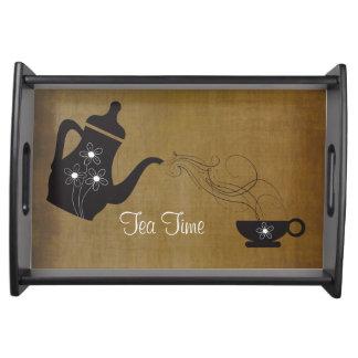 Vintage Style Tea Time Service Tray