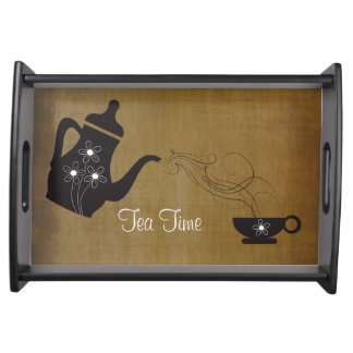 Vintage Style Tea Time Service Tray