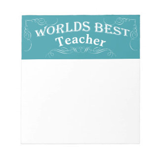 Vintage Style Typography Education Teacher Notepad
