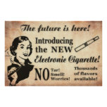 Vintage Style Vaping Poster