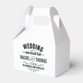 Vintage Style Wedding Survival Kit Favour Box
