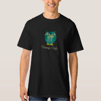 Vintage Style with Owls and Hearts - M1 Tee Shirts
