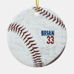 vintage styled baseball ball ornament