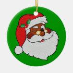 Vintage Styled Black Santa Image Ornament