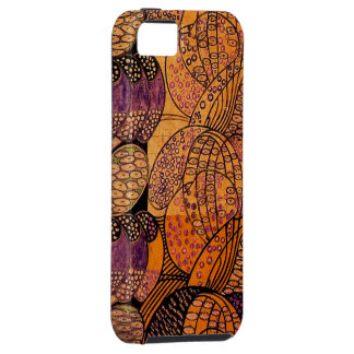 Vintage Stylized Daisies Tough iPhone 5 Case
