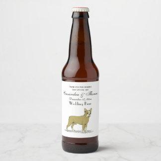 Vintage Stylized French Bulldog C Beer Bottle Label
