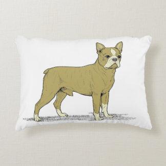 Vintage Stylized French Bulldog C Decorative Cushion