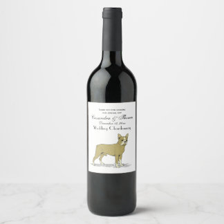 Vintage Stylized French Bulldog C Wine Label