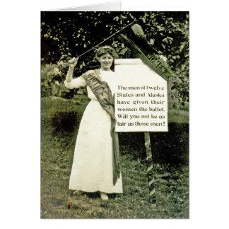 Vintage Suffragette Greeting Card