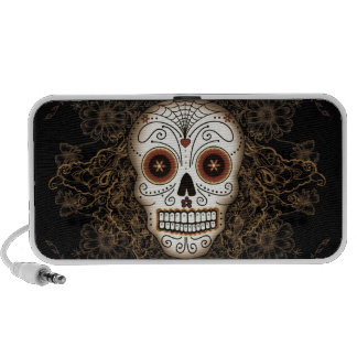Vintage Sugar Skull Doodle Portable Speakers