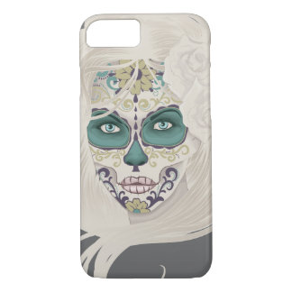 Vintage sugar skull girl with roses v4 iPhone 8/7 case