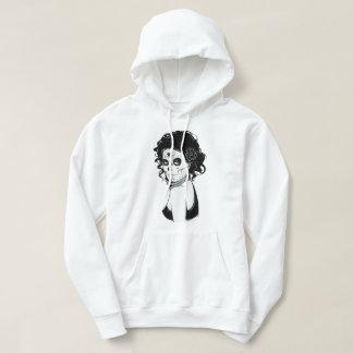 Vintage sugar skull girl with roses v7 hoodie
