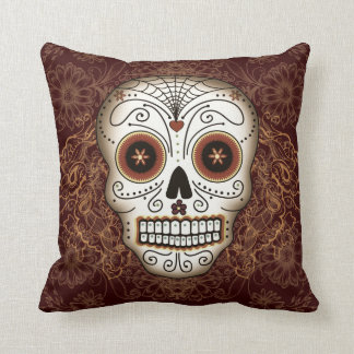 Vintage Sugar Skull Pillow Throw Cushions