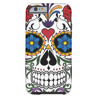 Vintage Sugar Skull Tough iPhone 6 Case