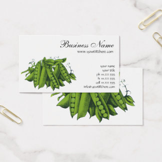 Vintage Sugar Snap Peas, Foods, Healthy Vegetables Business Card