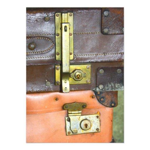 Vintage Suitcases Invitation