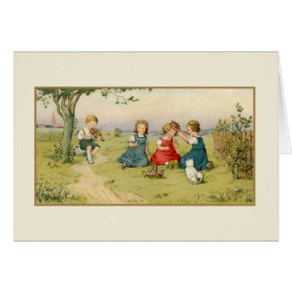 Vintage Summer Picnic Note Card