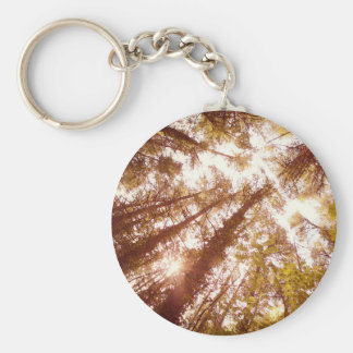 Vintage Summer Trees Key Ring