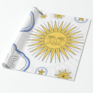 Vintage Sun and Moon Wrapping Paper
