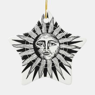 Vintage Sun Ceramic Star Decoration