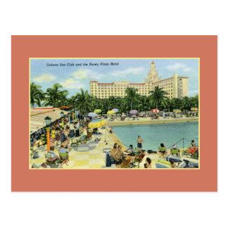 Vintage Sun Club and Roney Plaza Miami Beach Postcard