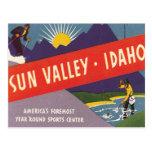 Vintage Sun Valley Idaho Postcard