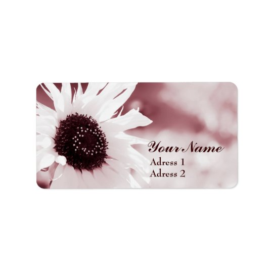 Vintage Sunflower - Address Label