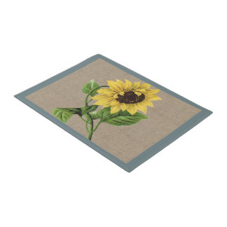Vintage Sunflower  Country Farm and Pets Doormat