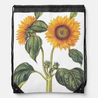 Vintage Sunflower Floral Flowers Backpack