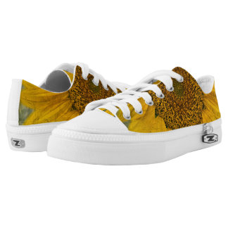 Vintage Sunflower Low Top Lace Shoes Printed Shoes