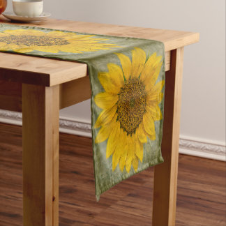 Vintage Sunflower Pattern Table Runner