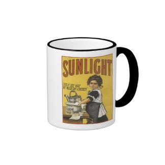 Vintage Sunlight Ad Ringer Mug