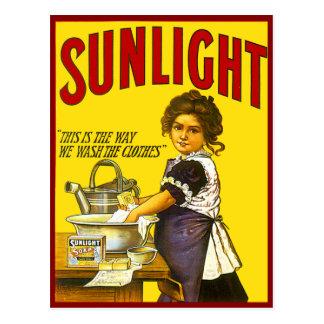 Vintage Sunlight Ad Postcard