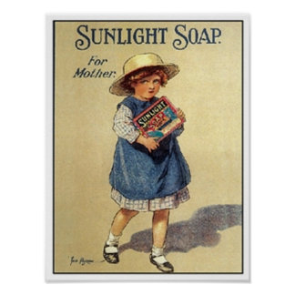 Vintage Sunlight Soap Ad - For Mother Poster