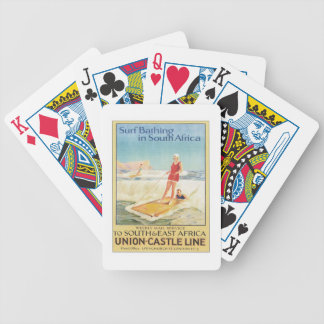 Vintage Surf Bathing South Africa Bicycle Playing Cards